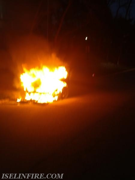 Car fire on arrival.