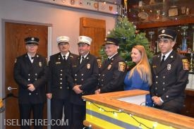 L-R: Captain Terry Kennedy, Deputy Chief Brian Bennett, Chief RJ McPartland, Deputy Chief Ken Creighton, Captain Mary Wertz, and Lieutenant TJ Karlin.